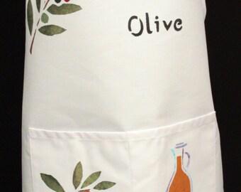 Olive Full Apron