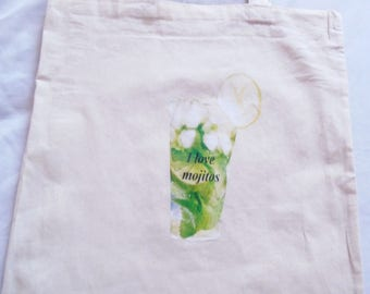 Tote bag i love mojitos