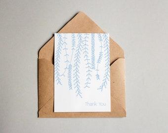 PRINTABLE Card, Thank You Vines Card, 4x6 & 5x7, Downloadable Print, Printable Greeting Card, Thank You Card