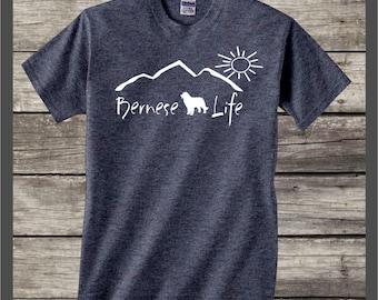 Bernese Mountain Dog Life T-shirt....mountain dog gift, gift for pet owner, gift for dog lover, dog shirt, bernese mountain dog decal