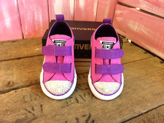 Blinged Baby Girls' Toddler Converse Chuck Taylor OX 2V
