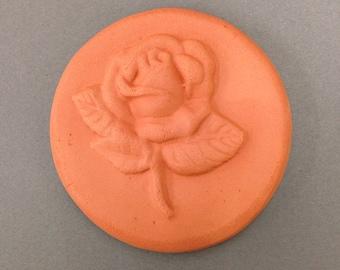 Rose Design, Brown Sugar Keeper, Brown Sugar Saver, Terracotta Disc, Baking Tool, Kitchen Gadget