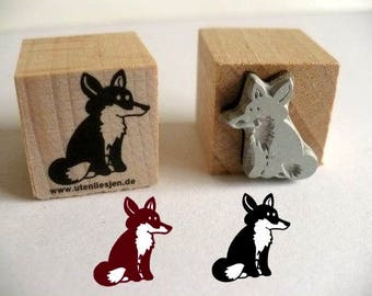 Fox, rubber stamp 20 mm
