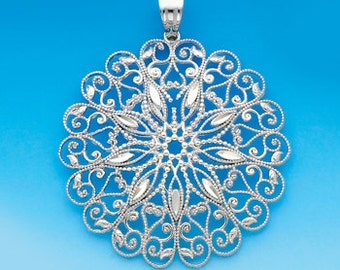 Sterling Silver round pendant.