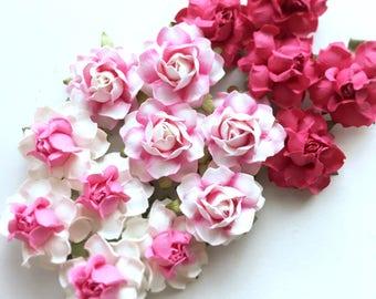 Pink Paper Flowers. Artificial Pink Flowers. Pink Flower Crown. DIY Flower Crown. DIY Flowers. DIY Wedding Programs. Pink Bridal Shower.