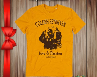 T-shirt golden retreiver my best friend