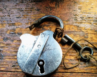 Reclaimed Working padlock and Key