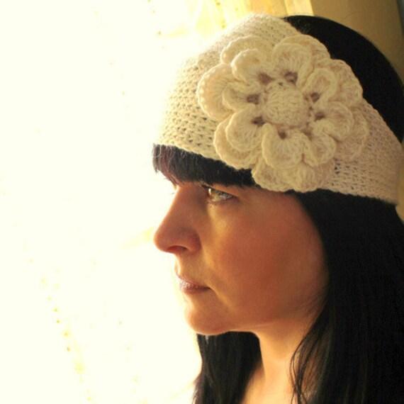 PATTERN Headband With Flower Crochet Pattern