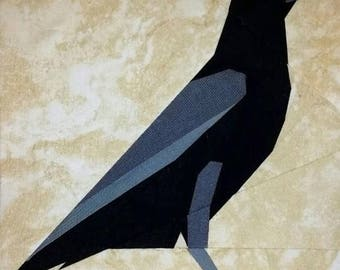Crow / Raven Bird Foundation Paper Piecing Pattern