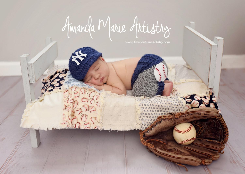 Newborn NY Yankees Costume Baby Boy Baseball Set Cap And
