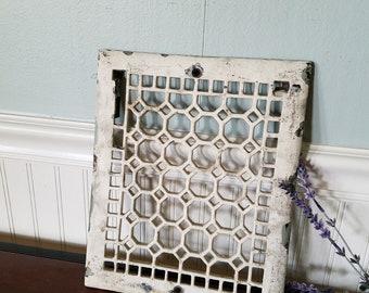 Antique Vent Cover, Vintage Cast Iron Grate, Register Cover, Cast Iron Vent, Ornate Register, Architecture Salvage, Floor Grate