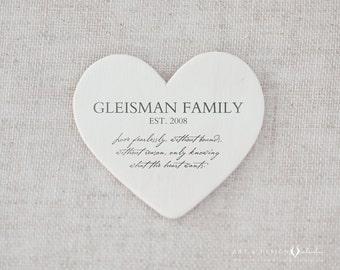 Family Name Est Print - Parents Gift, Last Name Personalized Print, Custom Family Name, Names on Heart Print, Personalized Family Wall Art