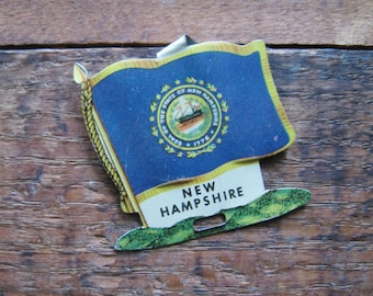Vintage New Hampshire State Flag Metal Clip - Money Clip, Shirt Clip - USA, United States, America