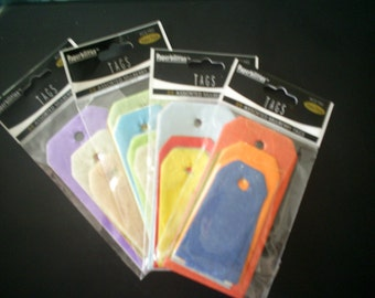 Pack of 30 Assorted Mulberry Hang Tags by Paperbilities Acid Free Mixed Colors
