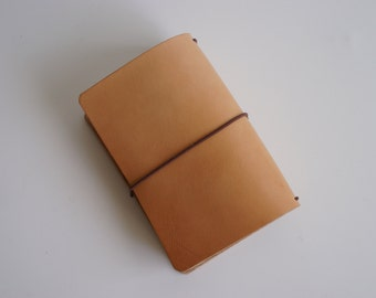 7-8 oz HMNO Leather Journal Cover - Undyed