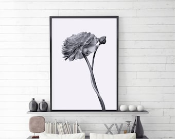 Flower Art Print, Gift for her,  Digital Download, Flower Wall Print, Flower Wall Poster, Instant Download, Wall Art, Floral, Large Size