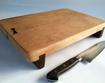 RECLAIMED Large Live Egde SYCAMORE serving/cutting board Really hand crafted in UTAH