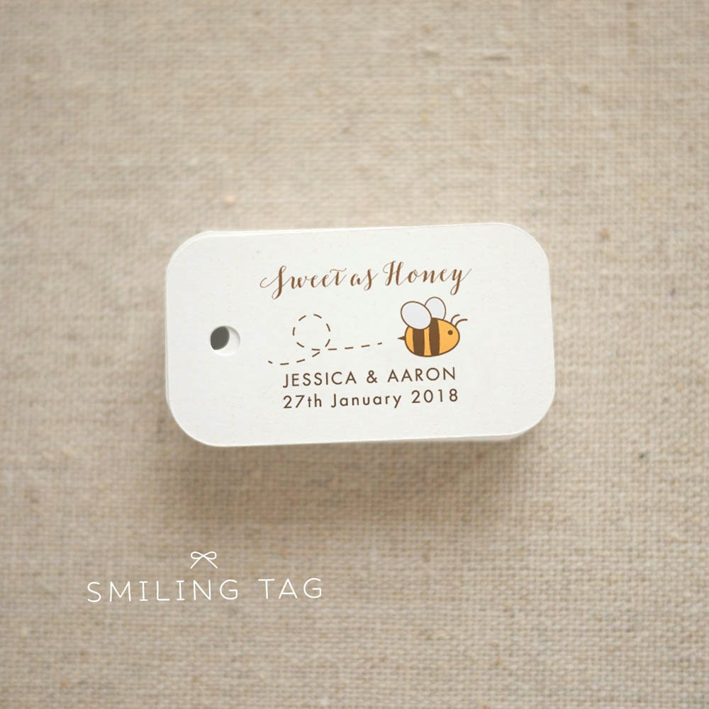 Sweet as Honey Gift Tags Honey Wedding Favor Tags Thank