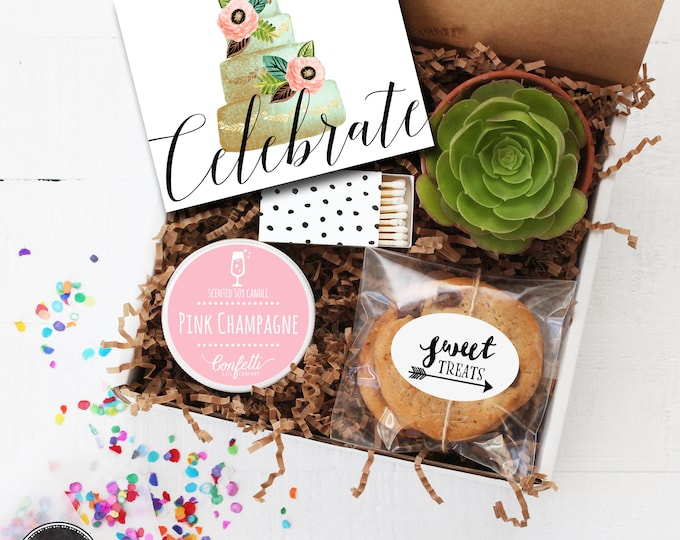Celebrate Gift Box - Congratulations Gift | Birthday Gift | Engagement Gift | Wedding Gift | Best Friend Gift | Celebration Box