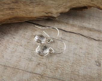 Quartz earrings~silver and gemstone earrings~dangle earrings~gemstone earrings~gemstone earrings~boho dangle gemstone earrings