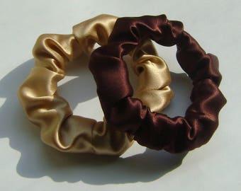 100% Silk Hair Scrunchies, 2 for 16.00