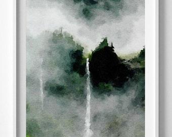 Washington Enchanted Valley Painting,Watercolor, Art Print, Wall art,Pic no 33
