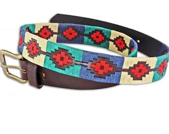 Polo Belt Pattern - Argentina belt - traditional leather belt