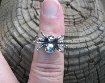 Vintage 925 Sterling Silver Spider Ring