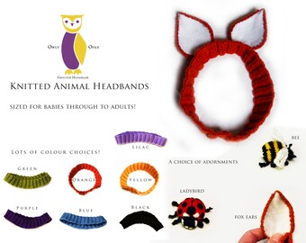 Animal Headbands, with Ears or Insects, Knitted Accessories OOGH003