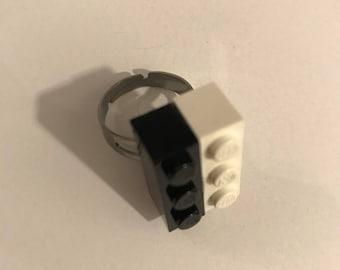 Black & White Lego Ring