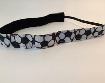 soccer Headband- Sport Headband= 7/8 inch headband- no slip headband- soccer