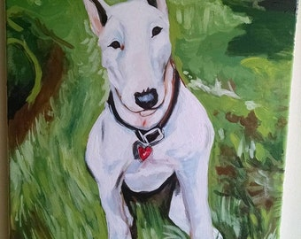 MADE TO ORDER ----- Custom Pet Portrait Listing. Acrylic on Canvas painting. Pet Portrait. Dogs and Cats.
