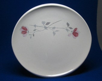 set of four Franciscan Duet Rose dinner plates  ( this listing for 4 , 10 available )