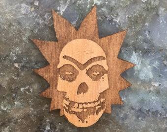 Rick 'Fiend' Sanchez: The Misfit Scientist - Wood Hat Pin