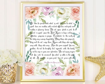 Happy birthday mom card printable birthday greeting card for bible verse wall art printable bible verse print romans 129 18 bible verse bookmarktalkfo Gallery