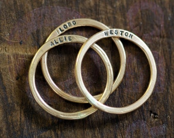 Personalized Ring 14k Gold Filled (E0238)