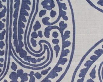 "Raoul Textiles ""Mira"" Hand Printed Linen Drapery Panels"