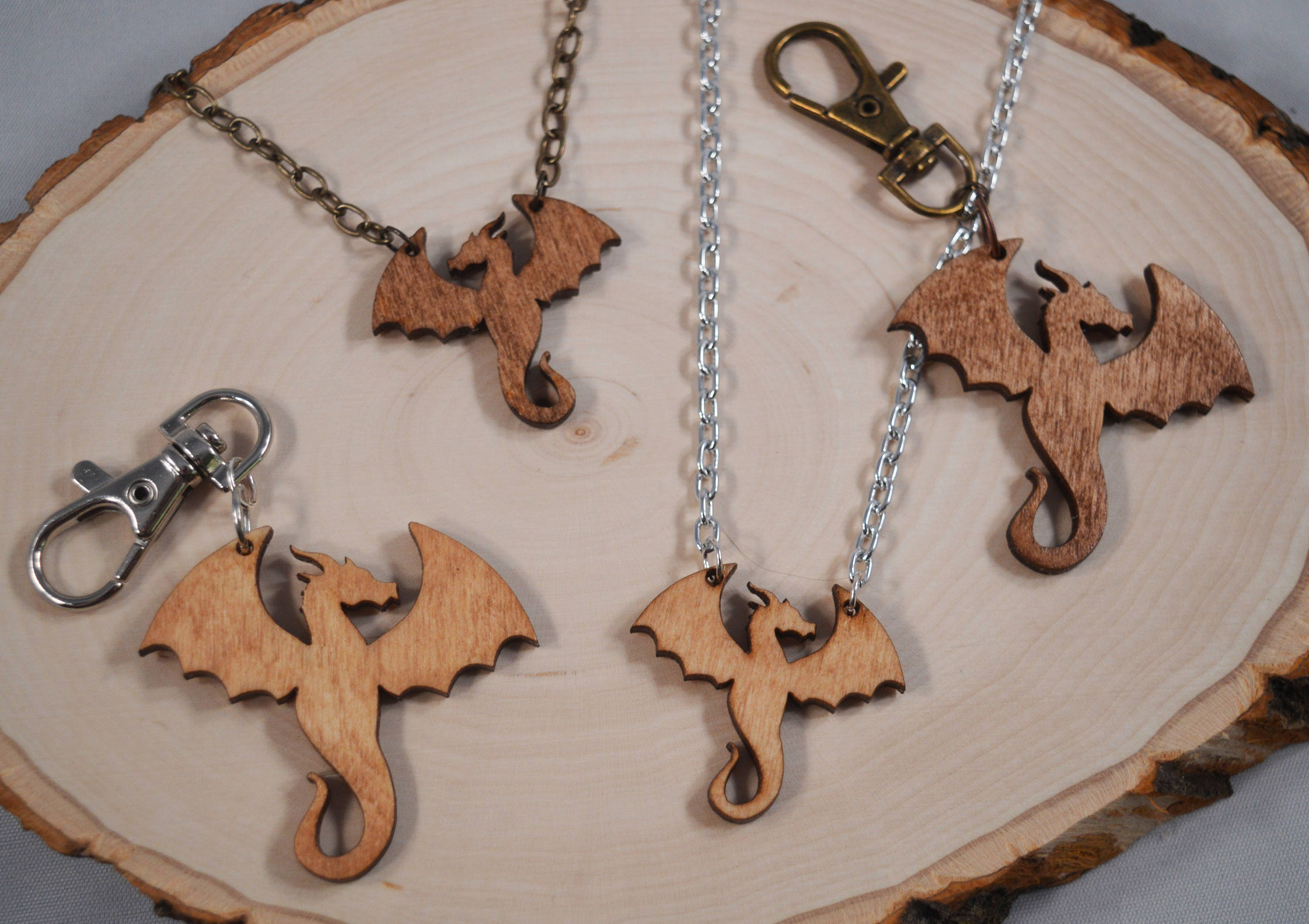 fullxfull pendant necklace wood keychain il and au fantasy chains listing dragon zoom