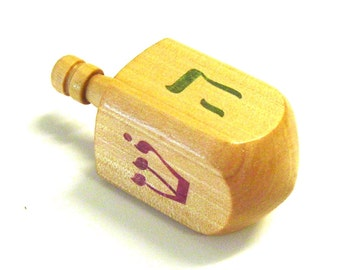 Hardwood Hanukkah Dreidel - Sealed