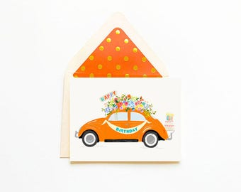 Happy Birthday Orange Bug