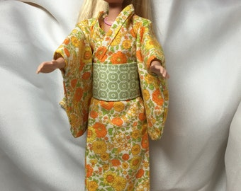 Barbie/11.5 inch Doll Traditional Japanese Kimono