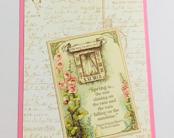 Beautiful Secret Garden Personal Planner Dashboard Perfect for Kikki K Medium, Filofax, Webster's Pages Color Crush or Recollections Planner