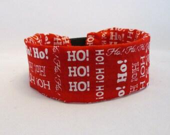 HO HO HO Holiday Dog Collar Cover