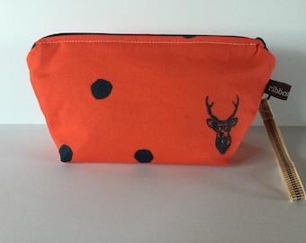 Mini Knitting Project Bag /Cosmetic Clutch