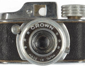Vintage Japanese Crown Spy Camera Subminiature Miniature Travel Mini