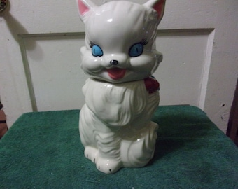 American Bisque Fluffy the cat cookie jar