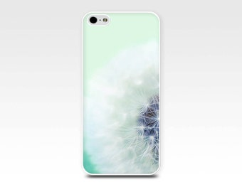 dandelion iphone case 5s iphone 6 case iphone 4s floral iphone case photography iphone 5 case iphone 4 mint iphone case nature teal pastel