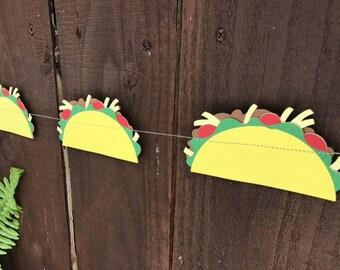 Tacos, Taco Decorations, Taco garland, Taco Decor, Taco Tuesday, cinco de mayo, paper garland, paper tacos, taco