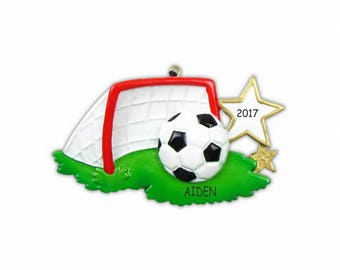 Personalized Soccer Sports Christmas Ornament