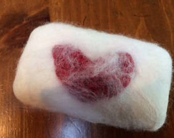 Felted Valentine Soap
